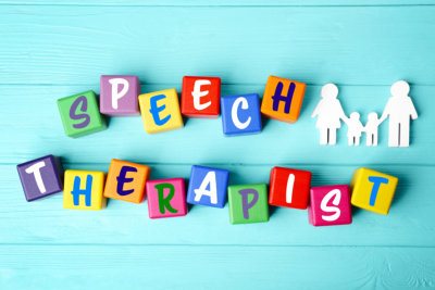 Speech therapy concept